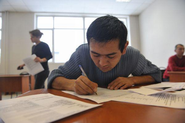 Экзамен по русскому языку для мигрантов.